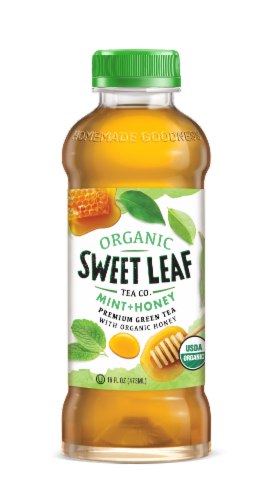 Sweet Leaf Organic Mint & Honey Green Tea Perspective: front