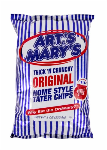 Art's & Mary's Thick N Crunchy Original Potato Chips Perspective: front