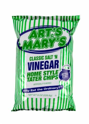 Art's & Mary's Classic Salt N Vinegar Potato Chips Perspective: front