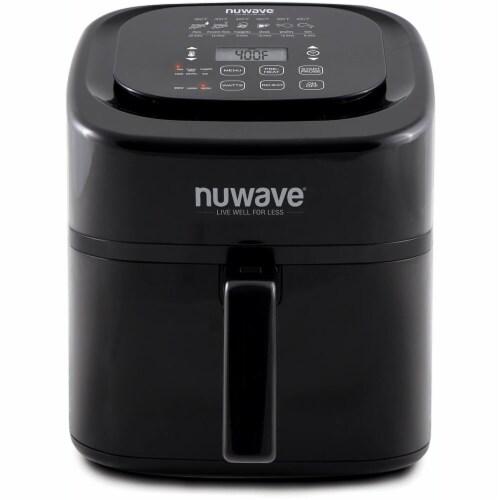 NuWave Brio Digital Air Fryer - Black Perspective: front