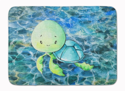 Carolines Treasures  BB8525RUG Sea Turtle Machine Washable Memory Foam Mat Perspective: front