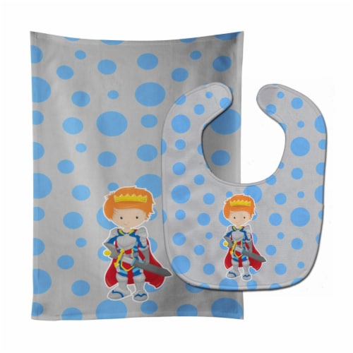 Carolines Treasures  BB8744STBU Ginger Boy Knight Baby Bib & Burp Cloth Perspective: front