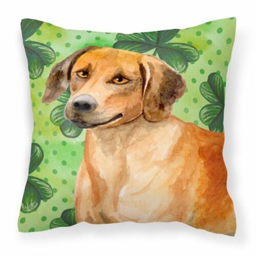 Rhodesian Ridgeback St Patrick's Fabric Decorative Pillow Perspective: front