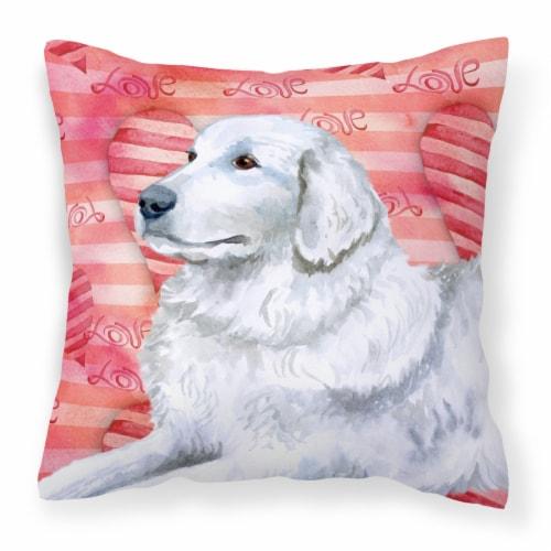 Carolines Treasures  BB9762PW1818 Maremma Sheepdog Love Fabric Decorative Pillow Perspective: front