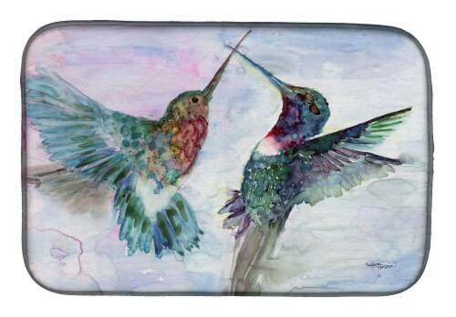 Carolines Treasures  8968DDM Hummingbird Combat Dish Drying Mat Perspective: front