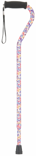 Nova Cane with Offset Handle - Butterfly Symphony Perspective: front