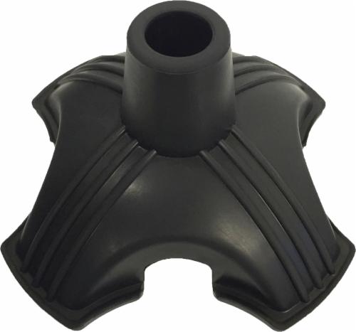 """Nova Cane Quad Tip 3/4"""" Shaft - Black Perspective: front"""