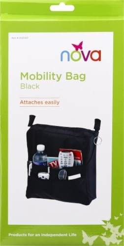 Nova Hanging Mobility Pouch - Black Perspective: front