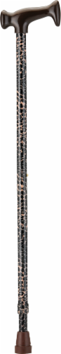Nova Cane with T Handle - Leopard Perspective: front