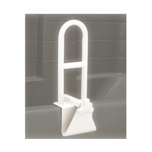Nova Tub Grab Bar - White Perspective: front