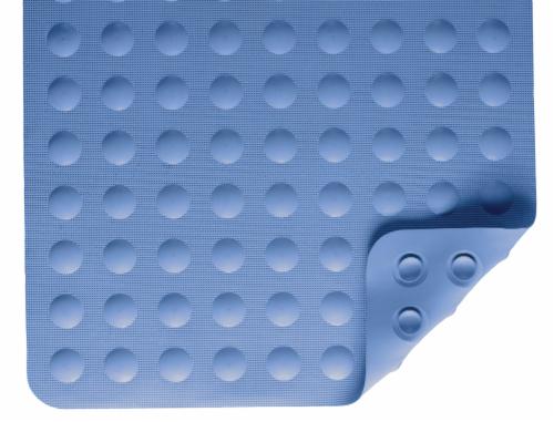 Nova Rubber Bath Mat - Blue Circles Perspective: front
