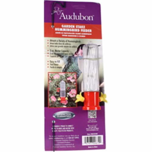 Audubon-Woodlink Garden Stake Hummingbird Feeder 3 Oz., Red Perspective: front