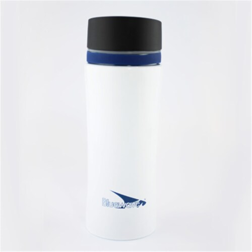 D2 Double Wall Stainless Steel Insulated Tumbler Mug, Winter White - 12 oz Perspective: front