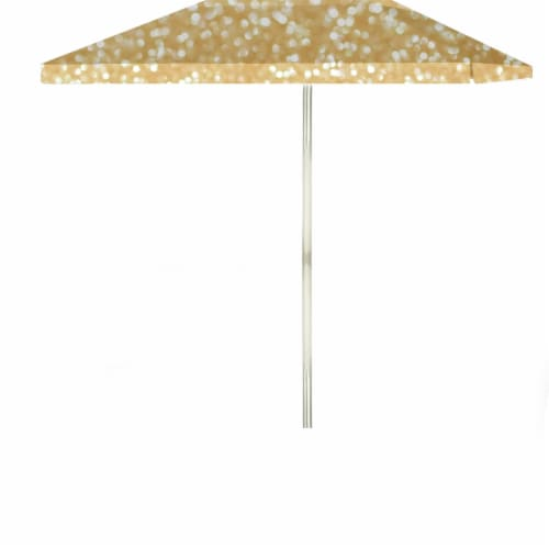 6 ft. Square Glitter Me Gold Market Umbrella, Gold Perspective: front