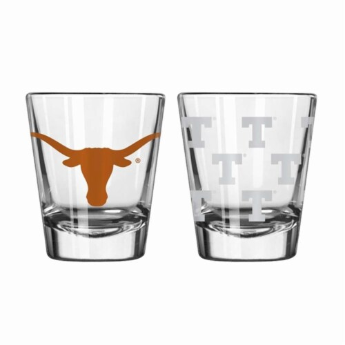 Texas Longhorns Shot Glass - 2 Pack Clear Perspective: front