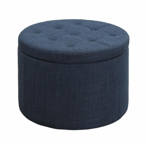 Designs4Comfort Round Shoe Ottoman - Beige Perspective: front