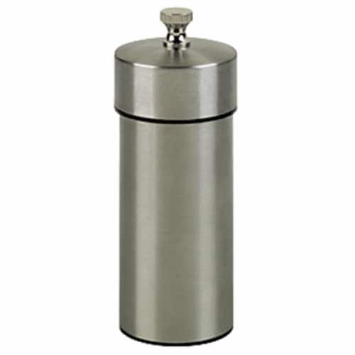 5.5 Inch - 14cm FuturaBrushed Stainless Pepper Mill Perspective: front