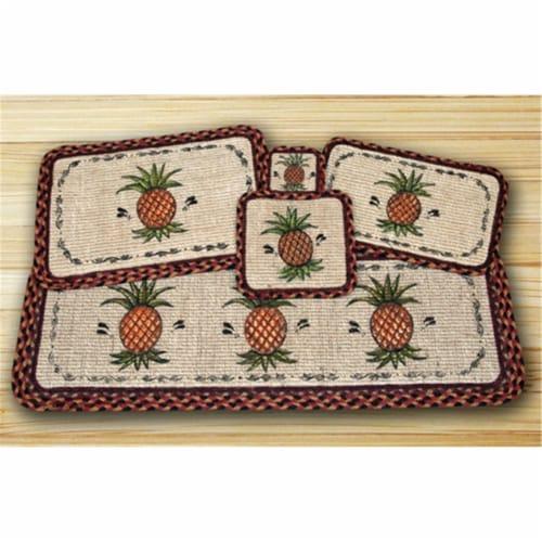Wicker Weave Trivet, Pineapple, Perspective: front