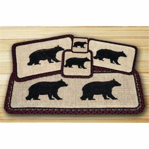 Wicker Weave Trivet, Cabin Bear, Perspective: front