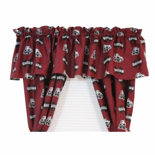 Mississippi State Printed Curtain Valance - 84 in. x 15 in. Perspective: front