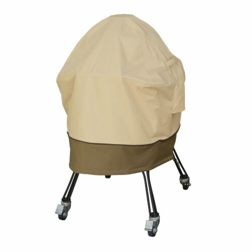 Medium Ceramic Grill Cover, Pebble Perspective: front
