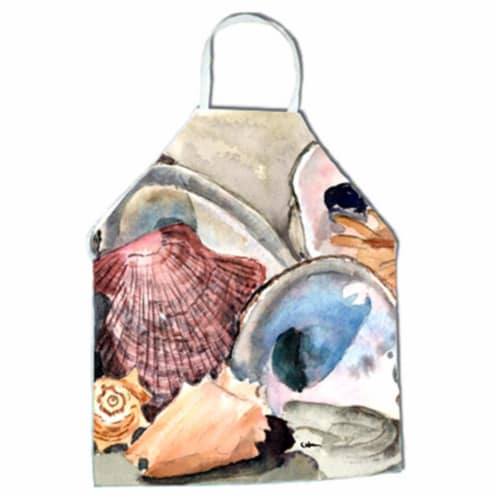 Sea Shells Apron - 27 x 31 in. Perspective: front