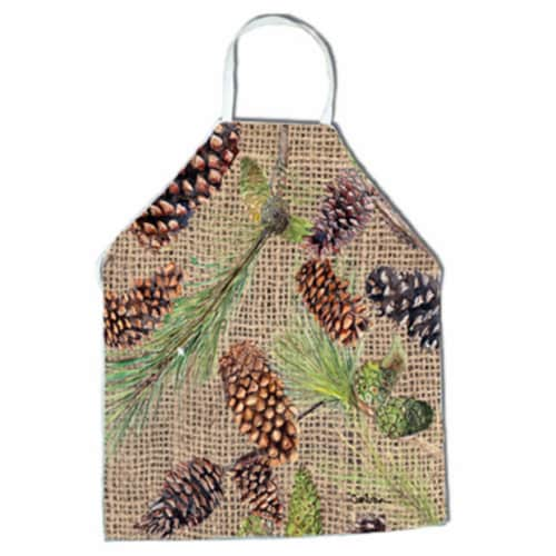 Pine Cones Apron - 27 x 31 in. Perspective: front