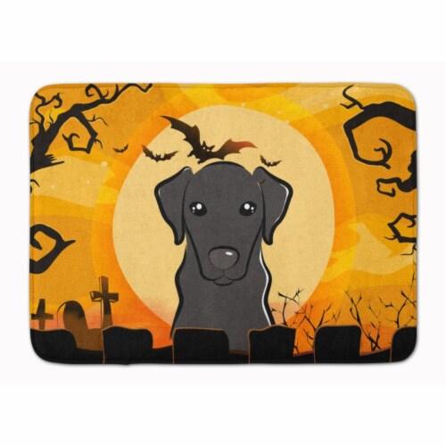 Halloween Black Labrador Machine Washable Memory Foam Mat Perspective: front