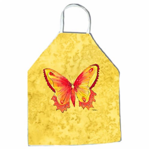 27 H x 31 W in. Butterfly on Yellow Apron Perspective: front
