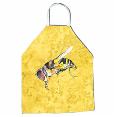 27 H x 31 W in. Bee on Yellow Apron Perspective: front