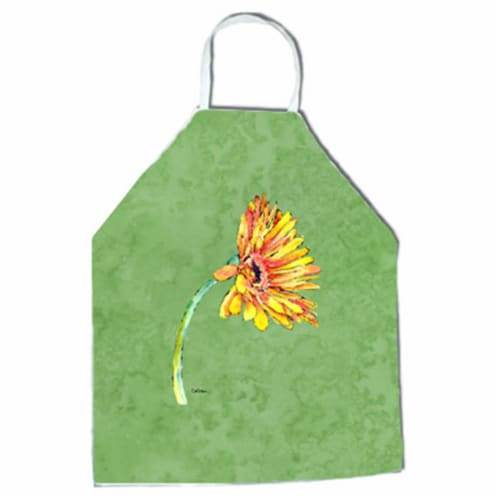 27 H x 31 W in. Gerber Daisy Orange Apron Perspective: front