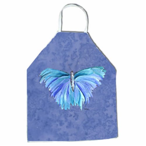 27 H x 31 W in. Butterfly on Slate Blue Apron Perspective: front