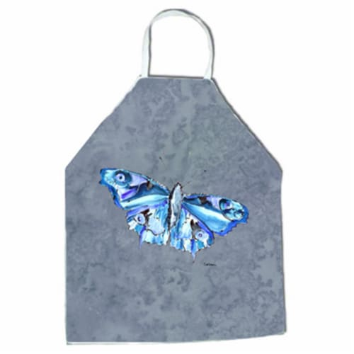 27 H x 31 W in. Butterfly on Gray Apron Perspective: front