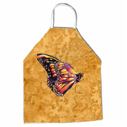 27 H x 31 W in. Butterfly on Gold Apron Perspective: front