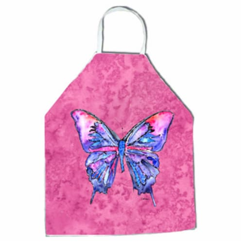 27 H x 31 W in. Butterfly on Pink Apron Perspective: front