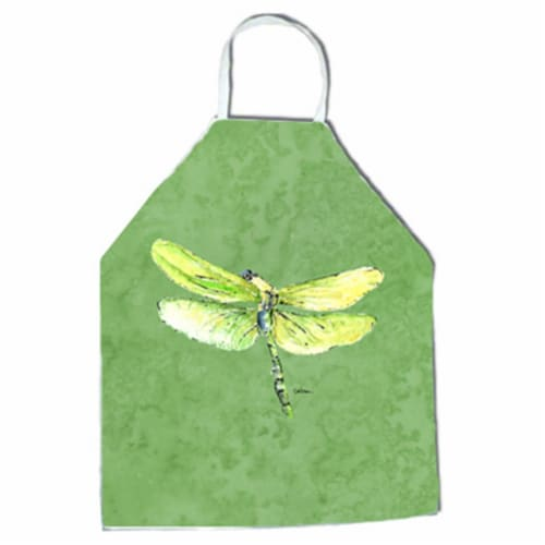 27 H x 31 W in. Dragonfly on Avacado Apron Perspective: front