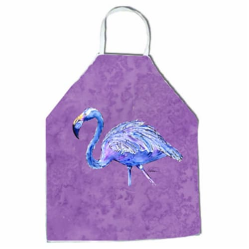 27 H x 31 W in. Flamingo on Purple Apron Perspective: front