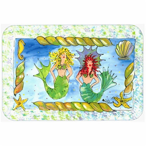 Mermaid Glass Cutting Board - Large Perspective: front