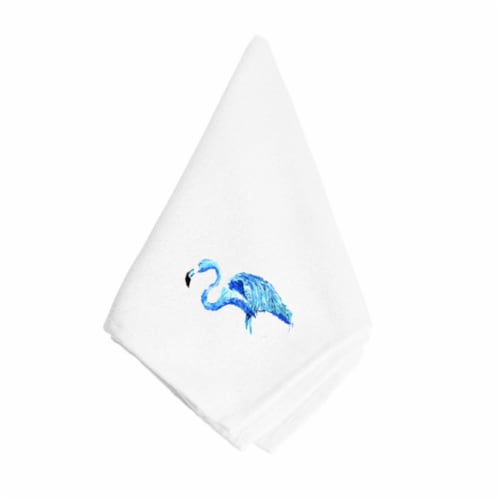 Blue Flamingo Napkin Perspective: front