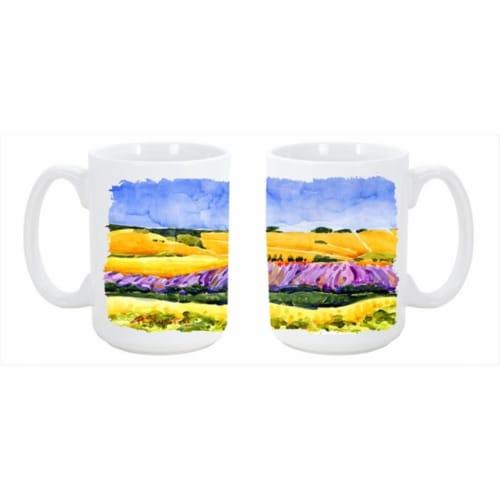 Landscape Dishwasher Safe Microwavable Ceramic Coffee Mug Perspective: front