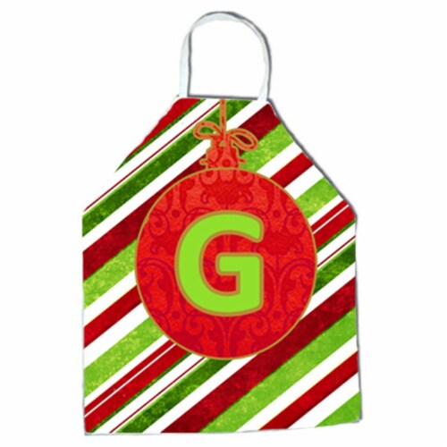 Christmas Oranment Holiday Initial Letter G Apron Perspective: front