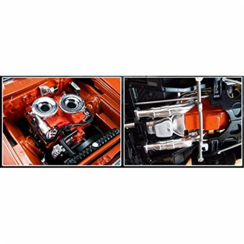Hemi Bullet Hemi 426 Engine with Headers & Transmission Replica for 1-18 Scale Perspective: front