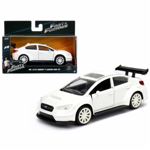 Mr. Little Nobodys Subaru WRX STI Fast & Furious F8, 1 by 32 Diecast Model Car Perspective: front