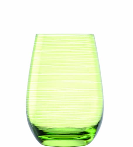Stolzle Lausitz Twister Tumblers - Green Perspective: front