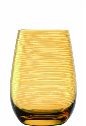 Stolzle Lausitz Twister Tumblers - Amber Perspective: front