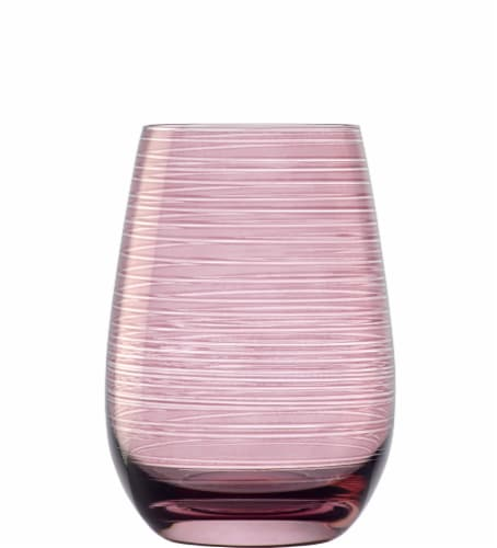 Stolzle Lausitz Twisted Tumblers - Lilac Perspective: front