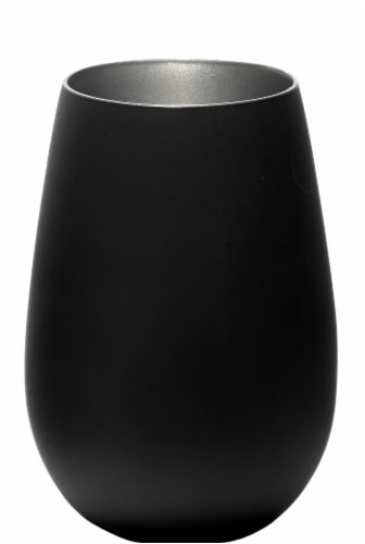 Stolzle Lausitz Olympia Tumbler - Matte Black/Silver Perspective: front