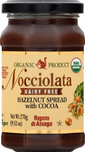Rigoni di Asiago Nocciolata Organic Dairy - Free Hazelnut & Cocoa Spread Perspective: front