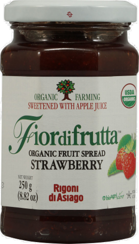 Fior di Frutta Organic Strawberry Fruit Spread Perspective: front