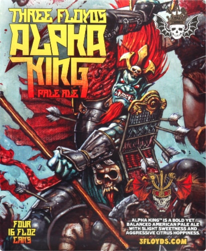 Three Floyds Alpha King Pale Ale Perspective: front